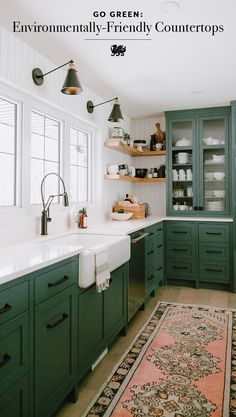 A round-up of the best green kitchen cabinet paint colors for the hottest bold kitchen color trend. A round-up of the best green kitchen cabinet paint colors for the hottest bold kitchen color trend. Kitchen Redo, New Kitchen, Kitchen Ideas, Rustic Kitchen, Design Kitchen, Kitchen Interior, Distressed Kitchen, Kitchen Modern, Earthy Kitchen