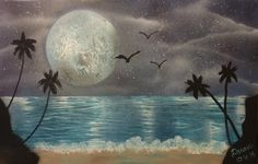 Spray Paint Moonlight Beach - YouTube