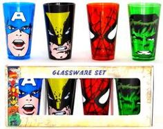 Marvel, Glass Mug Set, Heroes