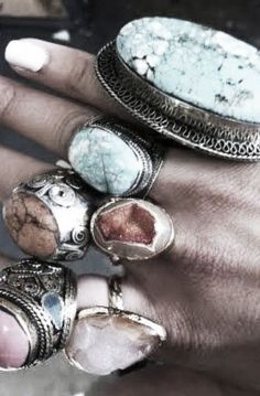maybe not all at the same time... but I do love gem rings! ;)