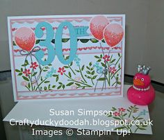 Stampin' Up! Susan Simpson Independent Stampin' Up! Demonstrator, Craftyduckydoodah!, Number of Years, Balloon Celebration, Supplies available 24/7,