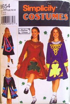 Simplicity Andrea Schewe costume pattern 9654 - My mother and I bought this pattern AFTER we made Anna's first dress. It was a little old in style for feising, with a full, circle skirt. But it did help with the bodice.