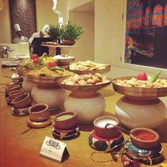 Breakfast Buffet at Suryagarh Catering Buffet, Catering Display, Catering Food, Catering Ideas, Catering Services, Buffet Table Settings, Wedding Table Settings, Wedding Buffet Food, Party Buffet