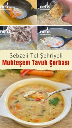 Sebzeli Tel Şehriyeli Muhteşem Tavuk Çorba – Nefis Yemek Tarifleri How to Make Fabulous Chicken Soup Recipe with Vegetable Wire Noodle? Dinner For One, Italian Sausage Tortellini Soup, Good Food, Yummy Food, Most Delicious Recipe, Chicken Soup Recipes, Noodle Recipes, Healthy Comfort Food, Best Dinner Recipes