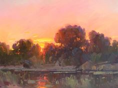 Ovanes Berberian  September sunset glow, 24 x 36, oil