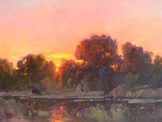 Ovanes Berberian  September sunset glow, 24 x 36, oil