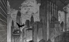 """Dave Taylor for http://www.bethelines.com/be/2013/mar/29/dave-taylor-architecture-meets-comics/ """"Batman: Death by Design"""""""