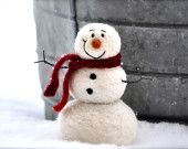 DIY Craft Kit - Needle Felted Snowman instructions and supplies - needle felting kit