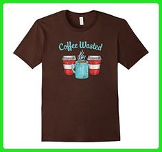 Mens Coffee Wasted Coffee Lover T-Shirt Medium Brown - Food and drink shirts (*Amazon Partner-Link)