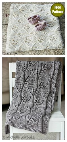 lace knitting This beautiful Lace Leafy Baby Blanket Free Knitting Pattern is quick to work up and has a lovely, leaf-inspired pattern for the perfect natural touch. Baby Knitting Patterns, Free Baby Blanket Patterns, Crochet Blanket Patterns, Lace Knitting Stitches, Knitting Tutorials, Lace Patterns, Knitting Designs, Knitted Baby Blankets, Baby Blanket Knit