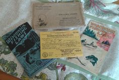 Vintage Fishing Licence and Law Book 1939 MADISON WISCONSIN Paper Booklet Sport