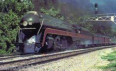 Norfolk & Western's Locomotive Number 611 Railway Historical Society   Postcard