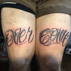 big meas tattoo - lettering master - Dayton,OH