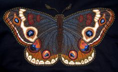 Beaded Painting Moth w x h. Back shoulder panel of a jacket. Native Beadwork, Native American Beadwork, Jewelry Art, Beaded Jewelry, Jewellery, Seed Bead Art, Beads Pictures, Butterfly Art, Butterflies