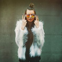 Fluffy fur coat and sunglasses errryday (we're making sunnies acceptable even in January....)