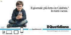 Campagna istituzionale Il Quotidiano della Calabria. Cliente: Finedit srl. Agenzia: Melaò.  Giacomo Molinari