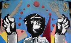street art in barrio bellavista, santiago de chile