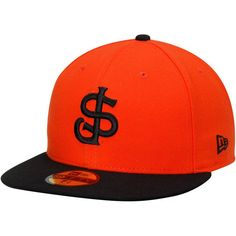 San Jose Giants New Era Authentic 59FIFTY Fitted Hat - Orange/Black