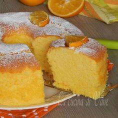 chiffon cake all'arancia.