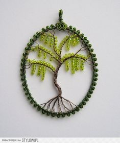 beads / wire wrapped pendant