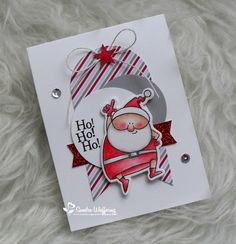card christmas santa MFT Jingle all the way Die-namics stamp  Made by Sandra