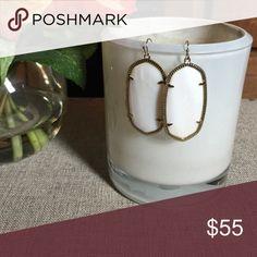 ✅SALE✅KS Pearl White Danelle Earrings Gently worn once. Kendra Scott Jewelry Earrings