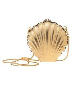 LANVIN ART DECO Brass Shell Clutch   dressmesweetiedarling