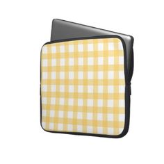 Yellow Gingham Laptop Sleeve