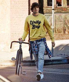 H&M Men   #hm #h&m #hmfashion #hmmen #fashionmale #menswear #menstyle #mensfashion #yellow #yellowseater #fashion #men #bluejeans #bike #gq #gqstyle