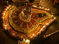 त्र्यम्बकेश्वर ज्योतिर्लिंग दर्शन Hindu Art, Sacred Art, Tree Skirts, Christmas Tree, God, Holiday Decor, Home Decor, Teal Christmas Tree, Dios