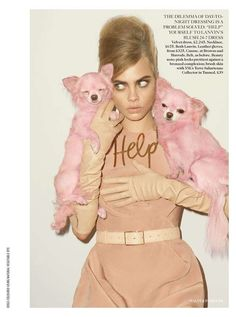 The UK Vogue Cara Delevigne Exhibits the Femininity of Fall Offerings trendhunter.com