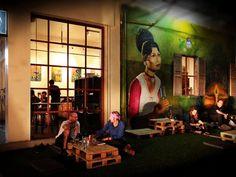 The terrace at Jaan Bai restaurant
