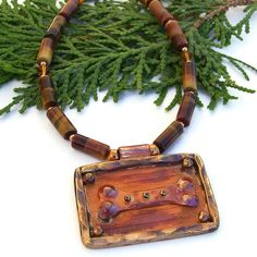 Artisan Copper Bone Pendant #Dog Rescue #Necklace, Tigers Eye Swarovski #Handmade Jewelry - 1/2 of the purchase price will be donated to the local Humane Society - @ShadowDog #ShadowDogDesigns #indiemade - $60.00