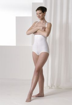 e428c1586 High Back Plastic Surgery Compression Garment w Suspenders- Stage 2