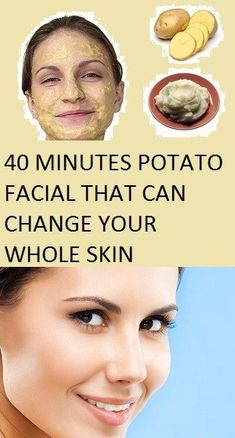 40 MINUTES POTATO THAT CAN CHANGE YOUR WHOLE SKIN This is a natural facial that will give you an instant glow and will remove all scars from your face. Here major ingredient that we are going to use in all below steps is a potato. Beauty Care, Beauty Skin, Health And Beauty, Beauty Hacks, Beauty Tips, Beauty Products, Diy Beauty, Beauty Ideas, Hair Products