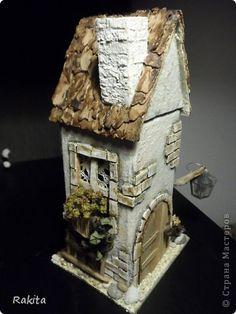 Поделка изделие Моделирование конструирование чайный домик Бумага Материал природный фото 1 Toy Castle, Doll House Crafts, Putz Houses, Fairy Garden Houses, Glitter Houses, Paper Houses, Miniature Houses, Bottle Art, Planer