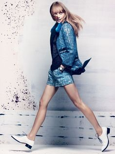 Sasha Pivovarova, Xiao Wen Ju  by Craig McDean for Vogue US November 2013 7