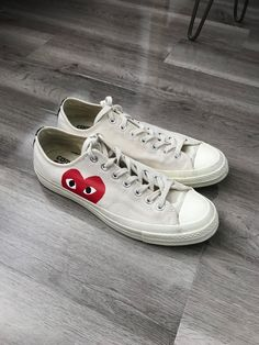 afb78cb4c00 Converse X CDG Play Low-Top Sneakers  9 Mens 11 Womens  fashion