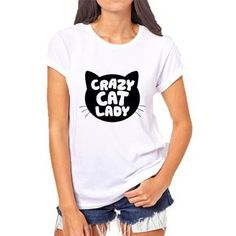 Crazy cat Lady  #ootd #fashion #elitista #urbanista #freeshipping #whiteclassic Crazy Cat Lady, Crazy Cats, Ootd Fashion, T Shirts For Women, Classic, Instagram Posts, Projects, Tops, Derby