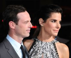 Scoot McNairy and Sandra Bullock attend the premiere of Warner Bros. Pictures' OUR BRAND IS CRISIS at TCL Chinese Theatre on October 26, 2015 in Hollywood, California. (photo Barry King) - Edited