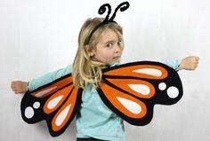Butterfly Wings - Orange Monarch   - Childrens Costume, Girls, Boys,
