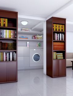Home decorating is not something that requires a vast fortune in order to do. The ideal manner to decorate a home is one step at a time, o… Geek Home Decor, Bookcase Storage, Home Automation, Space Saving, Storage Spaces, Home Improvement, Home Appliances, Homedesign, Flooring