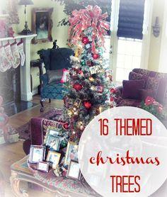 16 Christmas Tree Themes (via @thecraftblog )