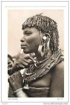 _ East Africa _  Types _ 2  cartes photo _  Turkana -Suk Woman