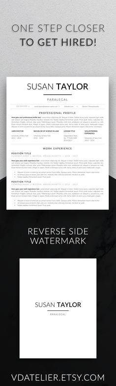 Legal Resume Template for Word \ Pages Lawyer Resume Attorney - resume for lawyers
