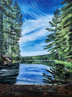 Northern Landscapes of Ontario Teresa Thompson Oakville Landscape Photos, Landscape Paintings, Landscapes, Canadian Nature, Algonquin Park, Two Rivers, Fine Art Photography, Fused Glass, Ontario