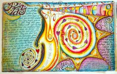 visual blessings: IDENTITY Art Journal - Recreated!  This is the journal she did on her study of Ephesians and Identity in Christ.