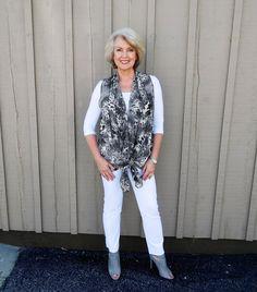 Fifty, not Frumpy: Fabulous New Print Vest!
