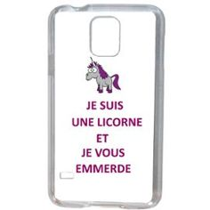 Licorne Je T Emmerde Samsung Galaxy S5 #Coque #Licorne Samsung Galaxy S5, Telephone Samsung, Smartphone, Coque Iphone, Mobile Phone Cases, Bb, Images, Unicorns, State Crafts