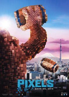 Donkey Kong la toma con Tokio en otro póster de la película 'Pixels'